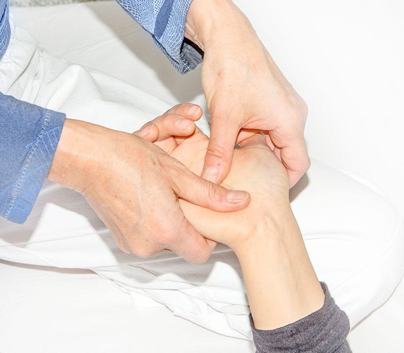 Bewegungen Behandlung Hand